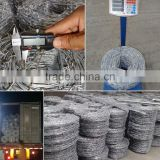 Best Discount!High tensile SWG14 400m 800m electro barbed wire for low price,barbed wire specification used barbed wire for sale