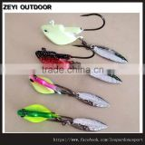Metal Spoon Bass Fishing Lures Blade Baits Crankbaits Hook Tackle