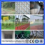 Football ground fence Diamond mesh/Chain Link sports court fence(Guangzhou Factory)