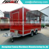 Commercial Fiberglass China Mobile Food Cart Trailer hot dog cart For Sale