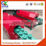 Scrap steel bar straightening and cutting machine