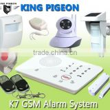 wireless GSM home alarm system wifi with 16 Wireless+20 Wired Alarm Zone security system gsm for home hot sell K7