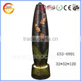 Missile shape resin crafts home decoration water fountain with Gold carp goldfish picture