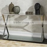 DN04 cheap long narrow stainless steel console table