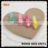 Hot Sale rabbits plastic hair clips for decoration