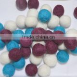 100% Wool Handmade Nursery Pom Pom Felt Balls Decoration Craft Kids Beads Supplies 2 cm