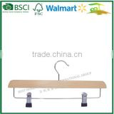 Wholesale wooden hangers for trousers, natural wooden hanger for pants,wooden pant hanger PS36B-GA