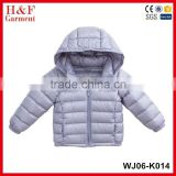 Hot Selling lightweight child Winter Down Jacket Hood Custom kid Duck Down Jacket Children clothing 2017