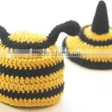 hand made kits crochet bumble bee baby hat and tushie cover set