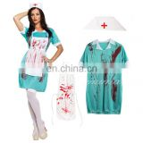 Halloween Ladies Bloody Zombie Nurse Horror Fancy Dress Costume