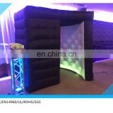hot sale black color photo booth cube tent ,photo booth shell,inflatable photo booth enclosure on sale