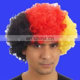 Country football fan Fun Afro Wig afro sport wig Germany afro wig