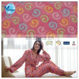 100% Polyester Knitted 3D Glue Print Design Flannel Fleece Fabric for Blanket or Bathrobe