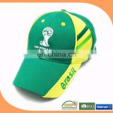 5 Panel cheap wholesale baseball cap hats for world cup 2014