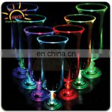 Plastic light up hurricane drinking party glasses with different color