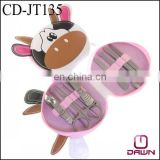 Stock cute 9pcs Cow shaped manicure set gift for kids CD-JT135