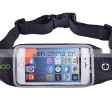 Running Waist Belt Pouch Case Fit Smartphone 4.7 Inch Zipper Pockets Water Resistant Expandable Runners Waist Belt Bag