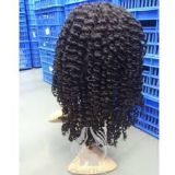 Afro Curl 100% Human Hair Blonde Curly Human Hair Wigs 10inch - 20inch Beauty And Personal Care