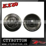 CTY-RB279 metal button with embossed skull