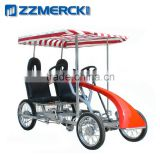 ZZMERCK MR-2 Red Two Person Roadster Surrey Bike
