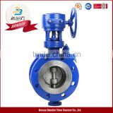high performance pn16 wafer type double eccentric butterfly valve dn200