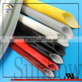 UL Qualified 7KV Thermal Endurance Electric Wire Protect High Strength High Voltage Resistant Silicone Rubber Fiberglass Tube