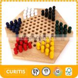2015 hot promotional items wooden musical instruments play chess game now wooden hexagon draughts Children's early education toy