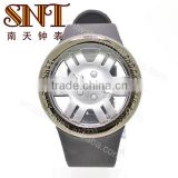 SNT-PU002 fashion quratz custom pu plastic watch
