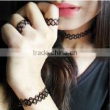 Vintage hippy stretch Magic tattoo choker necklace elastic choker Henna Style