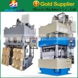 Wood working machinery to produce pallet block machines with wooden pallet