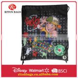 2016 Newest Durable Cartoon Printing Design of Cheap Cute Drawstring Bag with Excellent Quality