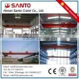Steel Wheel Double Hoist Trolley Bridge Crane For Lifting goods