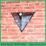 TOP Quality Solar Powered Wall Light Auto Sensor Fence LED Garden Yard Fence Lamp Outdoor