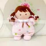 Super Soft Baby Soothing Toy Pink Doll/Stuffed Toy Doll with A Bell Inner Soothing Baby/Plush Comfy Pink Doll Baby Toy