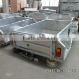 stainless steel tailgate kitchen on hot dipped galvanized camper trailer / travel trailer