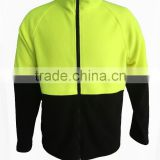 Men's Workwear industrial hi-vis yellow&black polar fleece safety jacket /HI Visibility jacket
