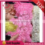 Lovely gile lace chemical embroidery fabric water soluable embroidery lace for wedding dress 10 colors available