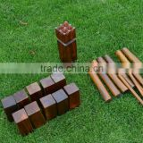 Brown color wooden kubb,,kubb game set for fun