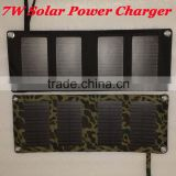 Factory wholesale High Quality Solar Charger 7W Solar Panel Solar Energy For Phone USB Charger Solar Folding Bag