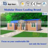 Low cost color steel coated sandwich panel house prefab house with cheap price and low labor cost