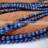 We have A,AA,AAA quality polished round lapis lazuli string wholesale natural gemstone loose beads