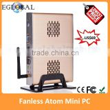 wholesale Cheapest hard drive server case for Intel N270 1.6GHz, max 2gb ram wifi e-mini itx case winxp fanless server