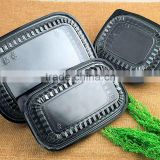 Black Leakproof Lunch Box Container Lunch Box Lunch Container for Takeaway and Packing Food