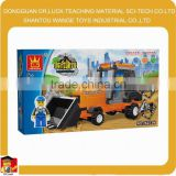 shantou wange brick toy factory wholsale toy forklift