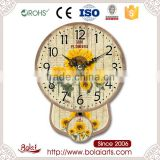 Personalized style bright sunflowers and black pointer recycled material wall clock
