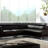 Leather Sofa made of Top Grain Cattle leather samll L Shape corner Living Room Leather Sofa 9121