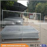ISO9001 anping high quality hot dipped galvanized and pvc coated 11 gauge chain link fence (Trade Assurance)