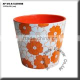 mini terracotta flower pot set