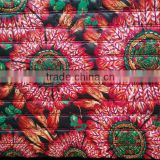printed plaid waterproof thermal double faced quilting fabric for women's winter clothing