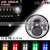 High quality XR trade assurance hot sale extra bright 5 inch round motorcycle led sealed beam headlight